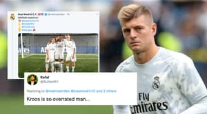 """Toni Kroos Replies To Fan On Twitter Who Called Him """"So Overrated"""""""