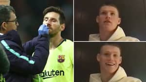 Scott McTominay Made Sure Lionel Messi Knew He Didn't Elbow The Barcelona Star