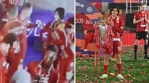 Jordan Henderson Showed His Leadership Qualities By Getting Takumi Minamino Involved In Celebrations