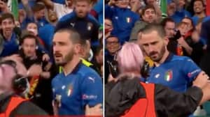 The Incredible Moment Steward Thought Leonardo Bonucci Was A Fan And Grabbed Him