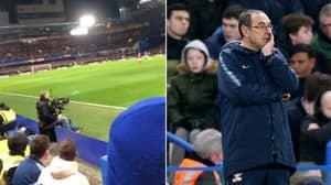 "Chelsea Fans Chant ""F*ck Sarri Ball, F*ck Sarri Ball"" During Defeat To Man Utd"
