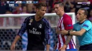 WATCH: Cristiano Ronaldo Laughs Off Fernando Torres Shoving Him