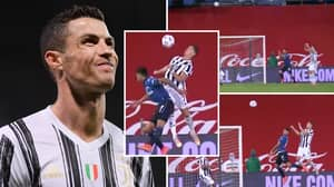 Cristiano Ronaldo Pulls Off Gravity-Defying Jump As Juventus Star Incredibly Controls Ball With His Chest