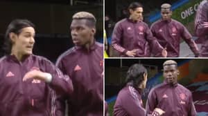 Edinson Cavani Showed His Valuable Experience In Pre-Match Chat With Paul Pogba