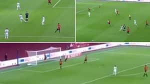 Besar Halimi Scores Ridiculous Goal For Kosovo Vs Spain