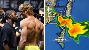 Severe Rain In Miami Threatens To Derail Floyd Mayweather vs Logan Paul
