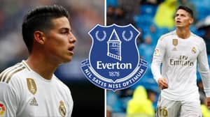 Real Madrid's James Rodriguez 'On The Verge' Of Signing Three-Year Deal With Everton