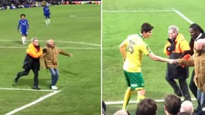 Watch: The Hilarious Scenes That Ensued When The Chelsea Fan Invaded The Pitch