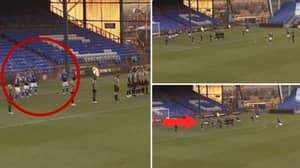 Oldham Athletic's Incredibly Unique 'Bouncing' Free-Kick Routine Worked A Treat