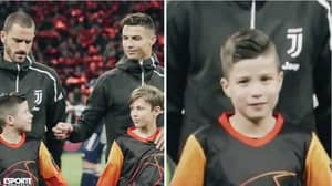 Everyone Spotted What Cristiano Ronaldo Did During The Champions League Anthem