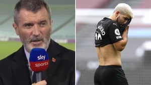 Roy Keane Slams Sergio Aguero For Being 'Overweight' After Returning From Injury