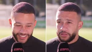 """""""How Dare You Ask Me This?"""" - Memphis Depay Furious With Journalist's Barcelona Question"""