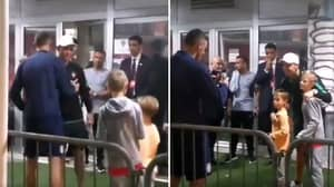 Nemanja Matic Brought His Son And Son's Friend To Meet Cristiano Ronaldo After Serbia-Portugal