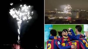 PSG Fans Set Off Fireworks At Barcelona Team Hotel At 5am, One Was Arrested