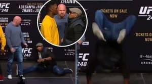 Israel Adesanya And Yoel Romero Take Part In Legendary UFC Press Conference Dance Off