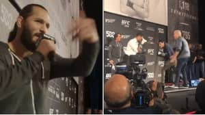Jorge Masvidal Picked Out Fans And Had Them Fight Each Other During His Open Workout