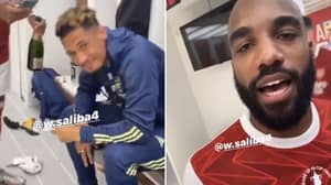 Pierre-Emerick Aubameyang Shuts Down Alexandre Lacazette After Poking Fun At William Saliba