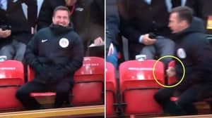 'Match Official' Seen Celebrating Liverpool's Winning Goal Against Spurs At Anfield