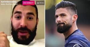 Throwback To Karim Benzema Brutally Savaging Olivier Giroud In Instagram Rant