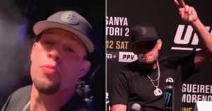 Nate Diaz Openly Starts Smoking Marijuana Midway Through UFC 263 Press Conference