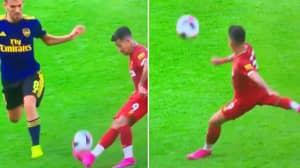 Roberto Firmino Flicks Ball Over Dani Ceballos To Set Himself Up