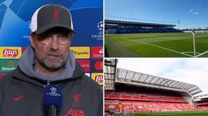 Jurgen Klopp Says Second Leg Will Be Played At A 'Proper Stadium'