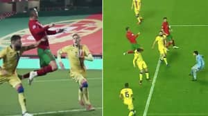 Slow Motion Footage Shows Cristiano Ronaldo's Unparalleled Hang-Time Against Andorra