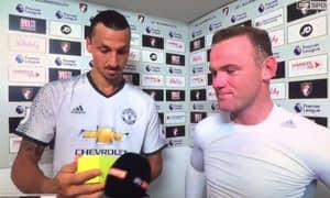 WATCH: Ibrahimovic And Rooney Are Shocked At Eric Bailly Getting MOTM