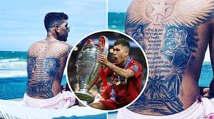 Liverpool's Roberto Firmino Gets Tattoo Of Himself Lifting The Champions League Trophy