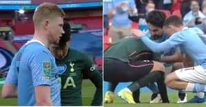 Crying Son Heung-Min Consoled By Foden, Gundogan And De Bruyne After Carabao Cup Final