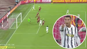 Cristiano Ronaldo Blows Fans Away With 'Gravity-Defying' Leap For Stunning Goal Against Roma