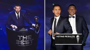 FIFA The Best Men's Player Of The Year Top 10 And Scores