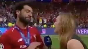 The Hilarious Moment Mo Salah Thought Female Reporter Was Trying To Kiss Him