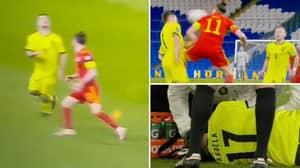 Gareth Bale Elbows Ondrej Kudela In The Face During Wales vs Czech Republic