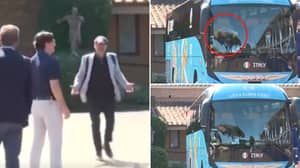 Italy Team Bus Almost Leaves Training Base Without Assistant Coach Gianluca Vialli