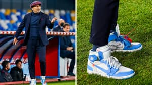 Bologna's Sinisa Mihajlovic Wears Limited Release Air Jordans On The Touchline And Is 'The Sneaker King'