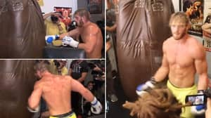 """Logan Paul Ruthlessly Mocked For His """"Terrible"""" Bag Work Ahead Of Floyd Mayweather Bout"""
