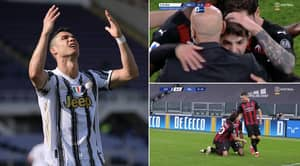 Cristiano Ronaldo And Juventus Heading For Europa League Next Season After AC Milan Defeat