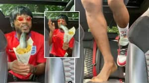 Patrice Evra Backs England To Win Euro 2020 While Holding Raw Fish And Chips In Most Bizarre Video Yet