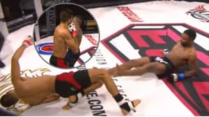 Crazy Double Knockdown Inside The Octagon After Both Fighters Hit Heavy