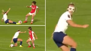 Arsenal's Mana Iwabuchi Pulls Off 'Slide-Tackle Nutmeg' In North London Derby, It's Poetry In Motion