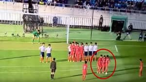 Japanese High School's 'Dancing Wall' Free-Kick Routine Will Blow Your Mind