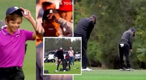 Video Comparing Tiger Woods And His Son's Identical Golf Style Goes Viral
