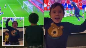 Lionel Messi's Sons Celebrate Dad's Brilliant Free Kick Vs Granada
