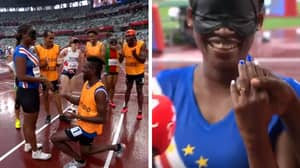 Beautiful Paralympic Moment As Blind Runner Is Proposed To By Her Guide
