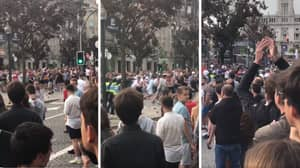 England Fans Clash With Portuguese Police Force Ahead Of Holland Game