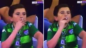 36-Year Old Bursaspor Fan Smoking Cigarette Prior To Win Over Fenerbahce Goes Viral