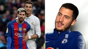 Chelsea's Eden Hazard Says 'There's Only One' GOAT