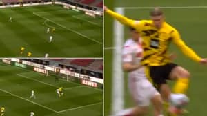 Erling Haaland Brings The Ball Down With Unreal First Touch And Turn For Nutmeg Finish