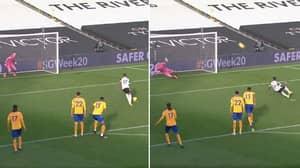 Ivan Cavaleiro Slips As He Misses Fulham Penalty Vs Everton